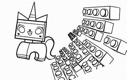 Lego Coloring Pages Brick Bricks Block Unikitty