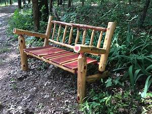 Free Shipping Ft Rustic Log Patio Bench Porch Furniture