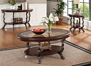 4 pc bavol cherry brown traditional cocktail coffee table set for 4 pc coffee table set