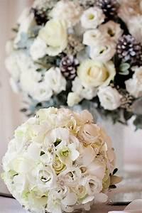decoration table mariage 50 idees pour le mariage en hiver With chambre bébé design avec bouquet de fleurs pour mariage civil