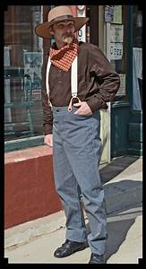 Heirloom Brand Old West Suspender Trousers In Navy Stripe