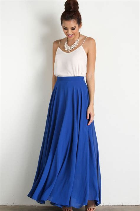 17+ best ideas about Blue Maxi Skirts on Pinterest   Navy maxi skirts Navy skirt outfit and ...
