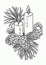 Candle Coloring sketch template