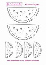 Watermelon Template Summer Printable Templates Bunting Coloring Outline Pages Birthday Watermelons Colouring Themed Pineapples Pineapple Crafts Drawing Box Banner Diy sketch template