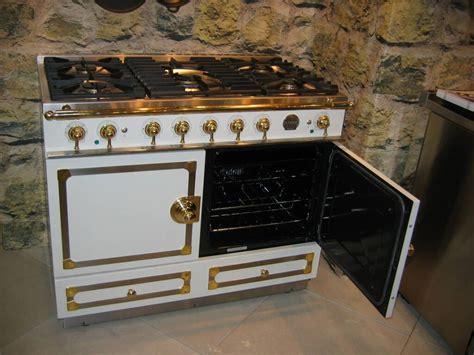 electric stoves for cornufé 110 white with satin chrome trim