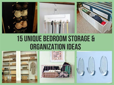 bedroom organization ideas 15 unique bedroom storage organization ideas