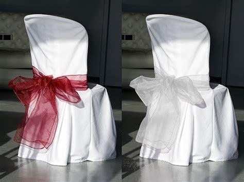 noeuds de chaise en organza mariage housses de chaise mariage