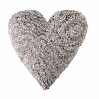 Heart Pillow Grey Pillows Crown Littlecrowninteriors