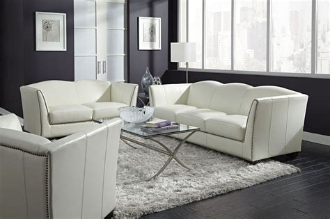manlyn white leather living room set  lazzaro wh    coleman furniture