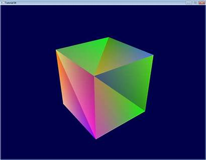 Cube Opengl Colored Tutorial Drawn Draw Triangle