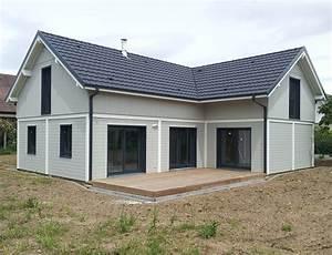 Maison bois en CanExel avec aspect poteau poutre Nos maisons ossatures bois 68 Haut Rhin