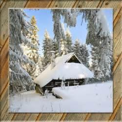 testclod chalet sous la neige