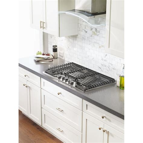 ge gas cooktop grates wcg97us0ds whirlpool 30 quot gas cooktop stainless steel