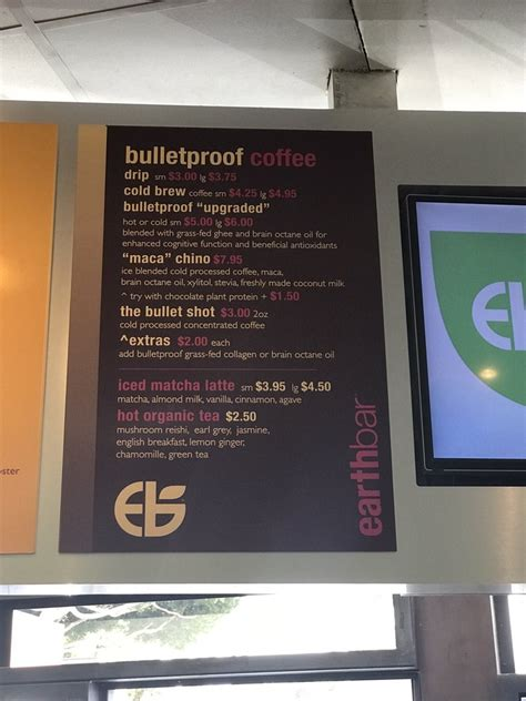 I love the espresso and usually. Bulletproof coffee menu - Yelp