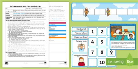 * New * Eyfs Maths Counting The Giant's Footsteps Whole Class