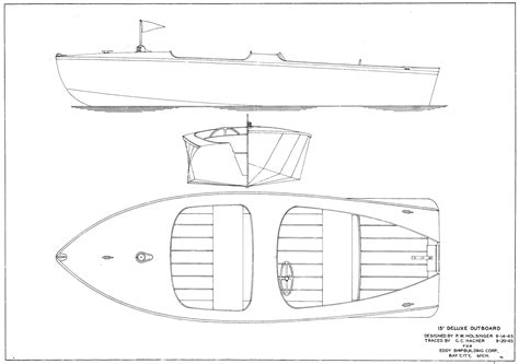 Sport Fishing Boat Blueprints by Outboard Boat Plans Rans