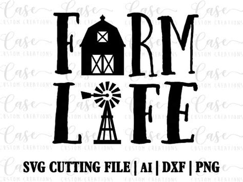 Free svg image & icon. Farm Life SVG Cutting File Ai Png and Dxf Instant Download