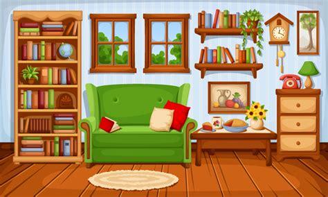 A Modern Comfy Living Room Background