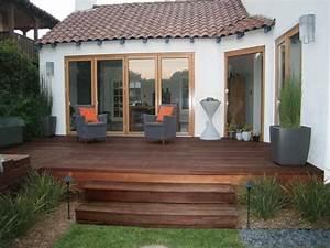 decoration terrasse en bois obasinccom With couvrir une terrasse en bois