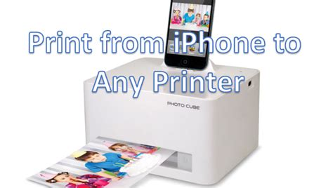 how to print from iphone how do i print from an iphone to any local printer