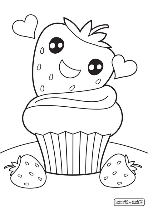 cupcake coloring pages coloring home