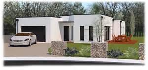 maison moderne toit plat plain pied gascity for