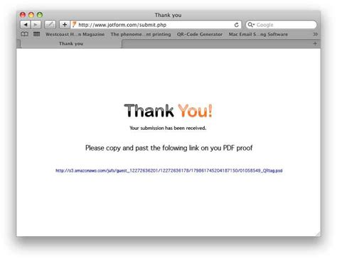 How Get Thank You Page With Url Link The File