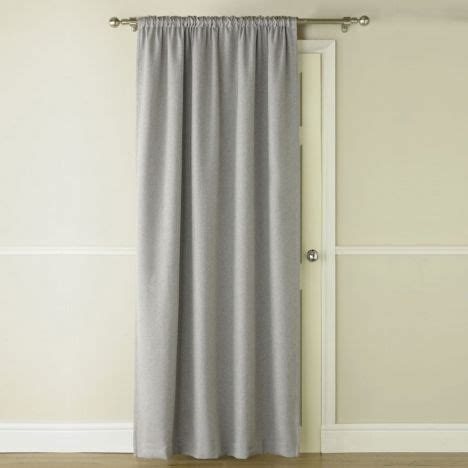 Blackout Thermal Grey Door Curtain Tonys Textiles