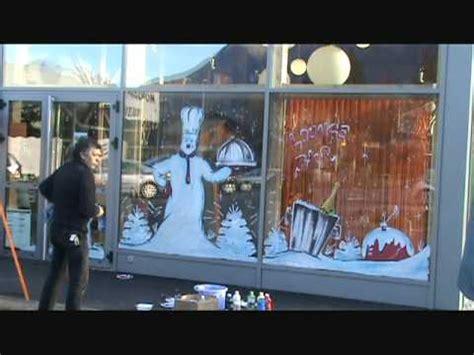 peinture sur vitrine