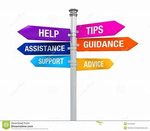 Sign Directions Support Help Tips Advice Guidance ...