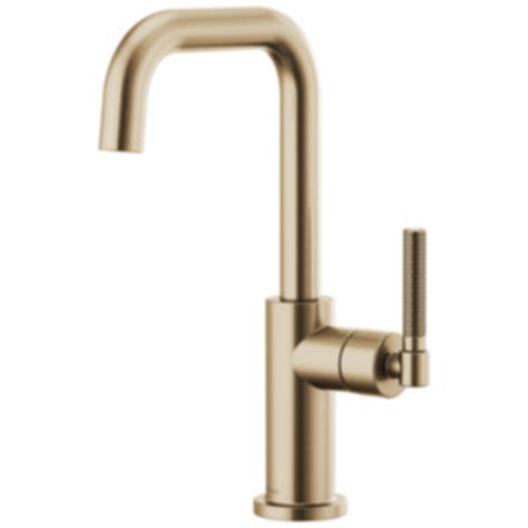 articulating kitchen faucet litze bar faucet with square spout and knurled handle