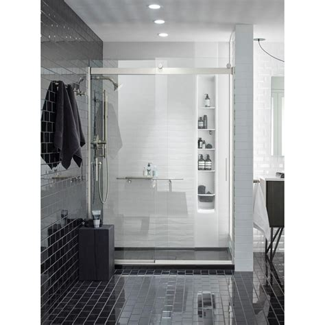 Kohler Shower Door Rollers - kohler levity 59 in x 82 in frameless sliding shower
