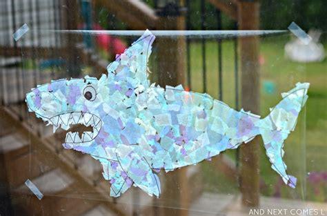 shark suncatcher craft light amp reflections series 438   shark suncatcher craft for kids under the sea preschool theme 6