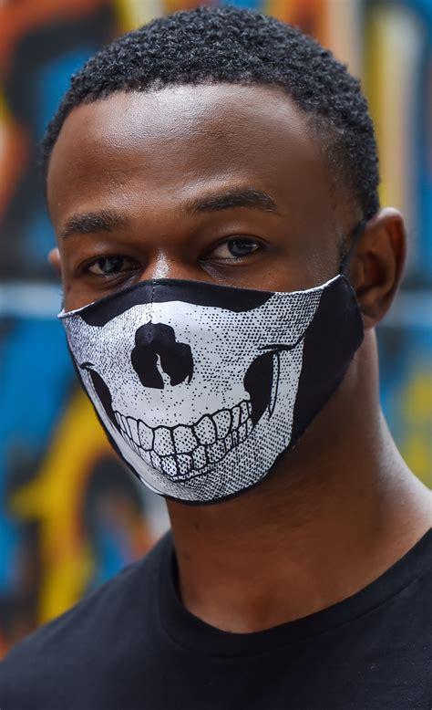 Skull Face Mask Insert Coin Clothing