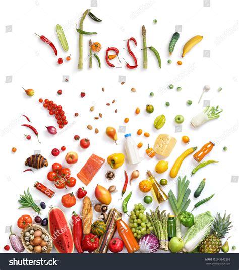cuisine concept fresh food choice healthy food symbol stock photo