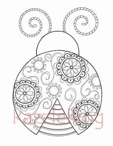 ladybug spring mandala coloring pages (4) « funnycrafts