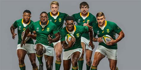 springboks  kit launched    rugby world cup