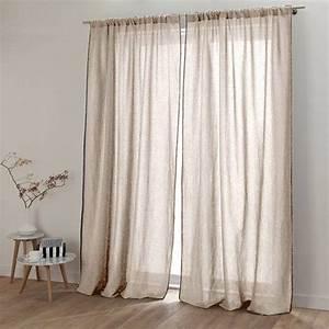 Rideaux En Lin Naturel : rideau lin lav stone wash et coton zilia harmony rideau ~ Dailycaller-alerts.com Idées de Décoration