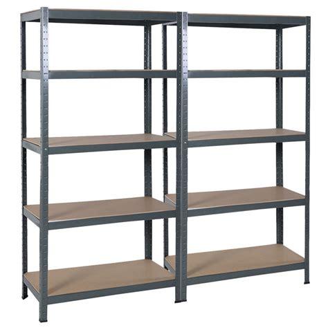 Metal Storage Shelves by Steel 5 Level Garage Shelf Metal Storage Adjustable