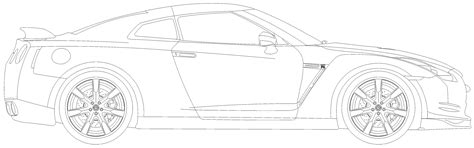 car blueprints nissan gt   blueprints vector