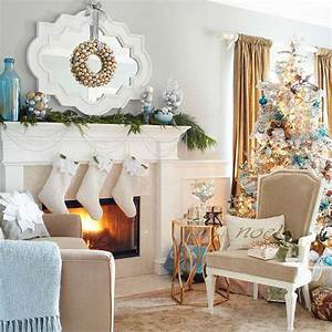 33 best christmas country living room decorating ideas for Living room christmas decor