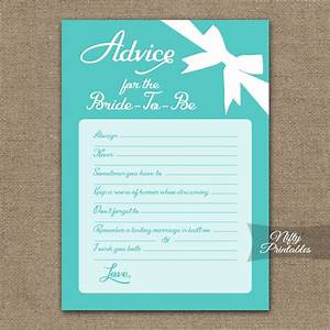 printable bridal shower advice cards tiffany blue With wedding advice cards for bridal shower