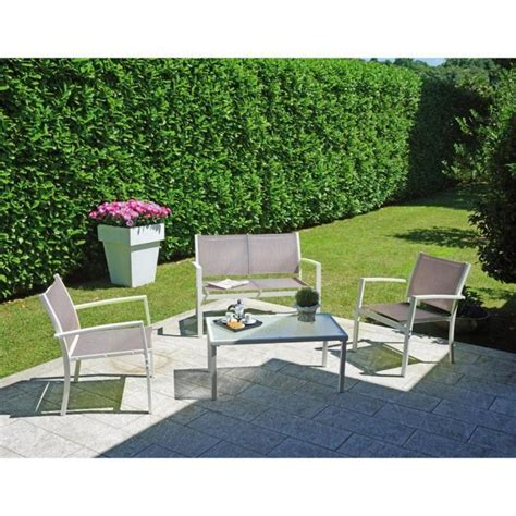 canapé de jardin pas cher ensemble de jardin composé de 2 fauteuils 1 canapé 2