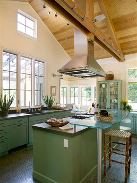 ideas for kitchen ceilings open floor plan vaulted ceiling kitchen living room