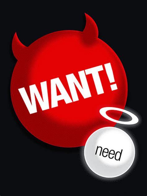 Smackpedia Want Vs Need