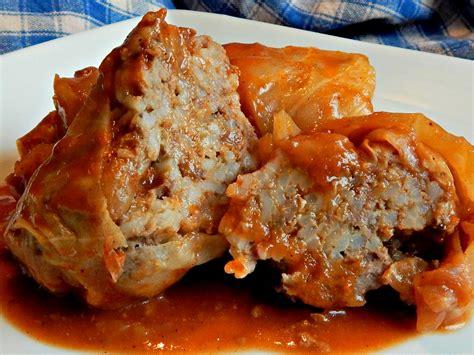 stuffed cabbage rolls stuffed cabbage rolls with sweet sour sauce frugal hausfrau