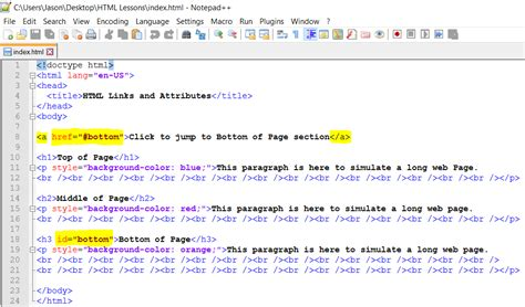 Link (hyperlink) And More Tag Attributes Html Web