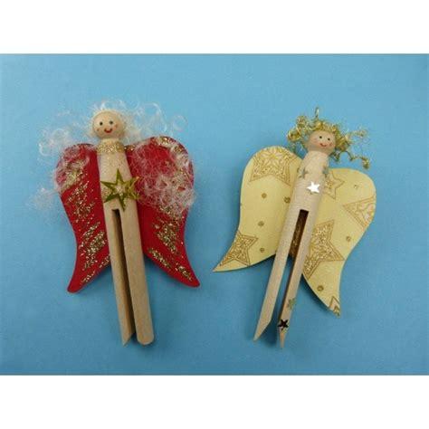bastelideen kinder weihnachten bastelideen weihnachten kinder einen engel mit einer rundkopfklammer basteln die anleitung