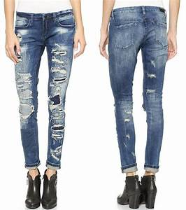 The 25+ best Tattered jeans ideas on Pinterest | Tattered jeans outfit casual DIY crafts jeans ...