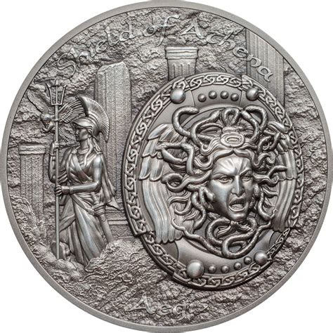 cook islands 2018 10 dollars shield of athena aegis